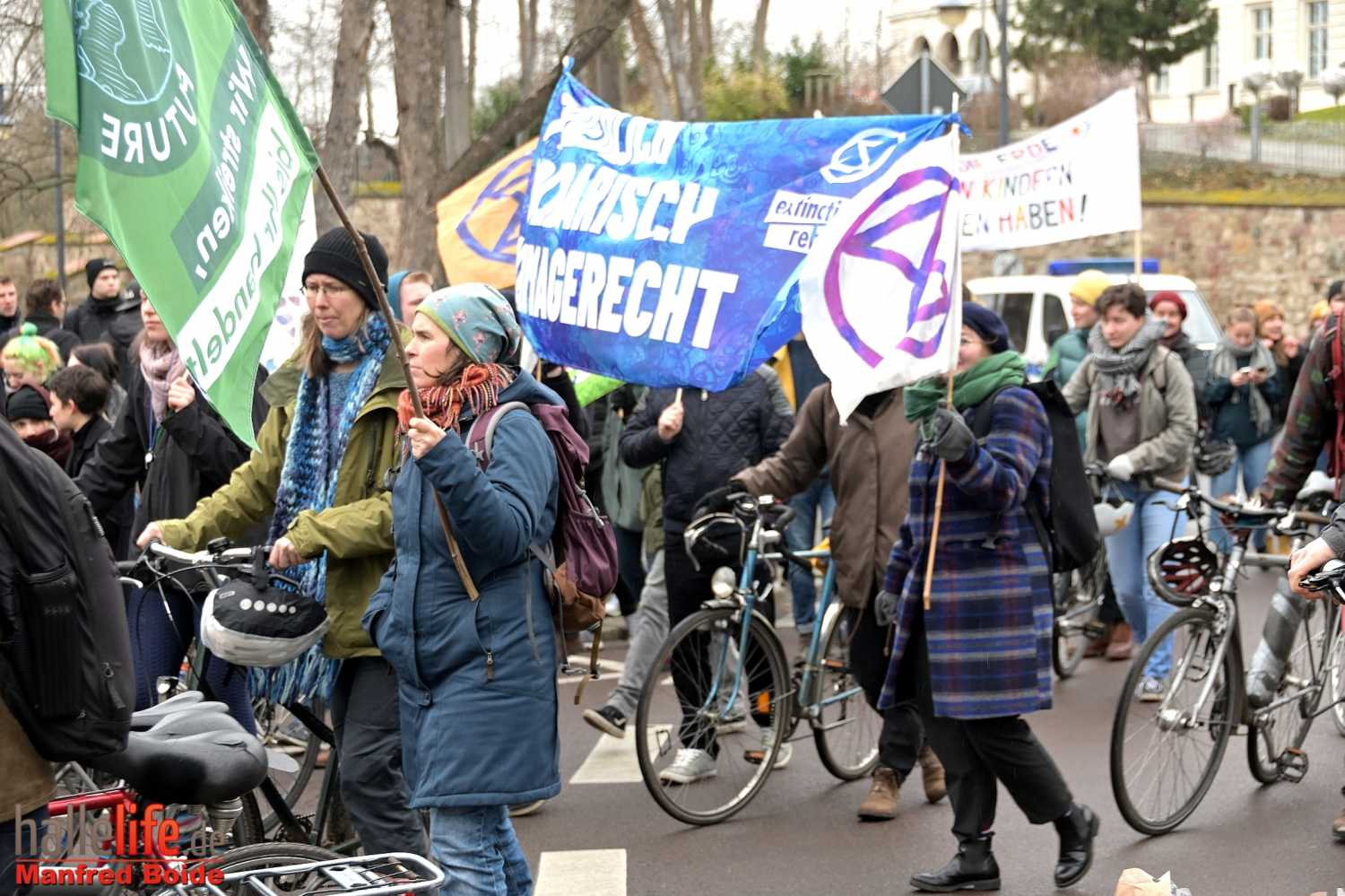 Fridays for Future Demo vor der Leopoldina